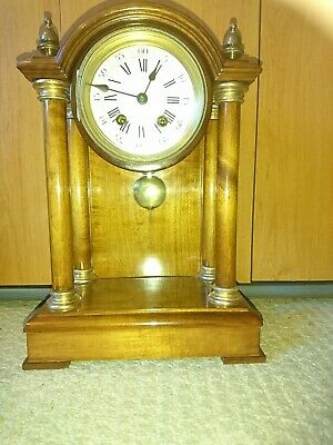 A Stunning Antique Striking Mantel Clock By HAC