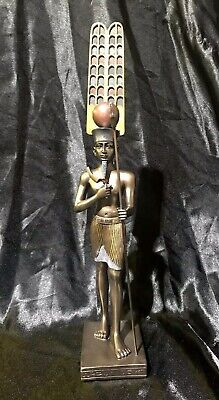 Bronze Cold Cast Coated Veronese Statue Of Egyptian Amun-Ra 30cm High