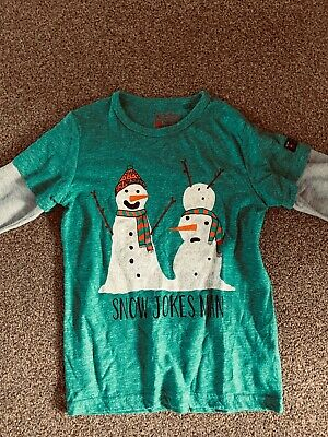 Boys Next Musical Christmas Top and super skinny Grey Jeans  size 7 years