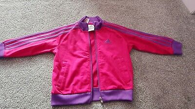 Girls Adidas Tracksuit Top Jacket Age 3-4 Years