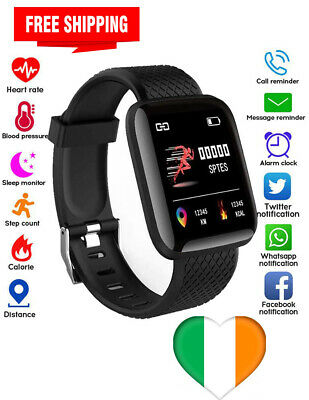 Smart Watch Heart Rate Monitor Fit Activity Tracker iPhone Android Touch Screen