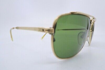 Vintage gold filled sunglasses made in France by ESSEL Zeiss glass lenses mens M