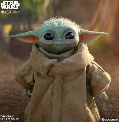 """Sideshow The Child baby Yoda Lifesize Star Wars Preorder Ships August 17"""" tall"""