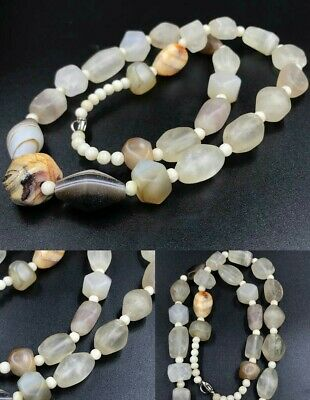 Roman old Crystal Rock And Agate Stone Vintage beautiful  Necklace