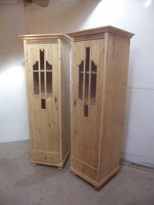 A Rare Pair of Art Deco Antique/Old Pine Cabinets/Dressers to Wax/Paint c1930s