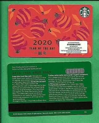 2020 Starbucks Canada Chinese Year of the Rat Card 6176