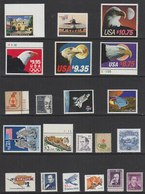 Us High Value Postage, Mint Never Hinged, 22 Different, Cv $100.80  Ins Ship