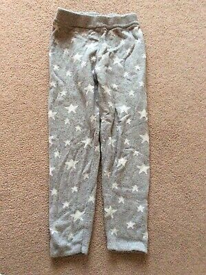 Girls Age 3-4 Grey With Stars Elasticated Waist Leggings By Mothercare