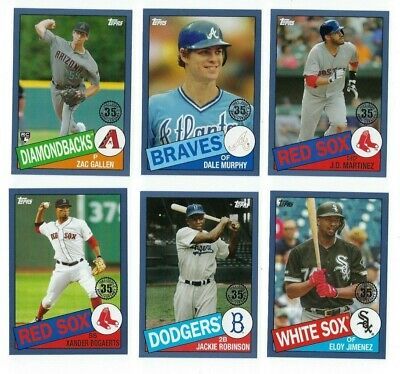 1985 Topps Baseball BLUE PARALLEL 2020 Topps Series 1 You U Pick Choice Set