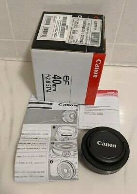 Canon EF 40mm f/2.8 STM Lens mint pre-owned condition was overstock lightly used