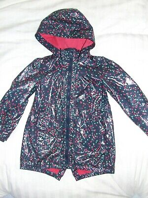 Girls Ted Baker blue pink shower jacket age 6 years