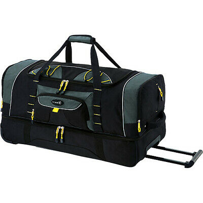 Rolling Duffel With Blade Wheels Jumbo Bag 36 Inch 2-Section For Travel In Black