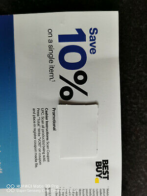 best buy 10% off coupon on a single item valid till March 5th