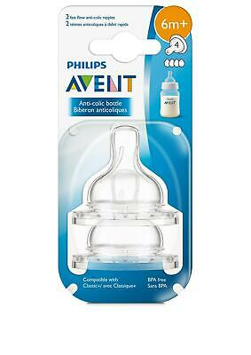 Philips AVENT Anti-Colic Nipple, Clear, Fast Flow