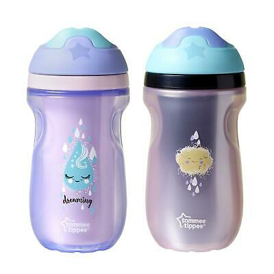 Tommee Tippee Insulated Baby Toddler Spill Proof Sipper Sippy Cup 2-Pack Girls