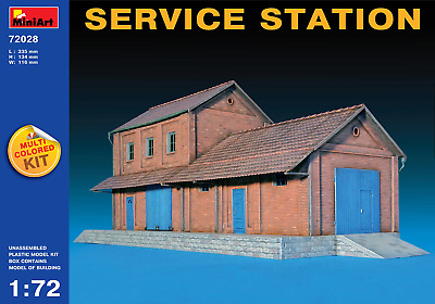 Miniart 72028 1/72 Service Station Plastic Model Kit