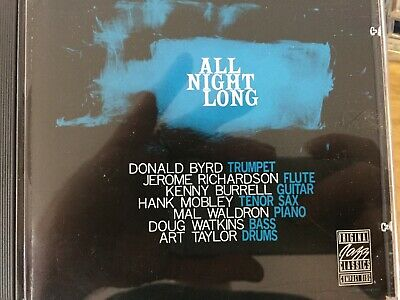 DONALD BYRD / KENNY BURRELL - All Night Long Expanded CD 1990 Prestige AS NEW!