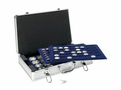 Aluminium Coin Case box with various trays combination, single coin trays