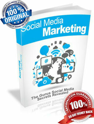 SOCIAL MEDIA ONLINE  MARKETING eBooks  EBOOK PDF WITH RESELL RIGHT DELIVERY 12HO