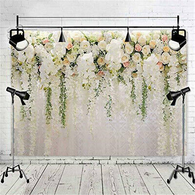 3D Romantic Flower Wall Photography Backdrop Family Photo Props Background #ea6