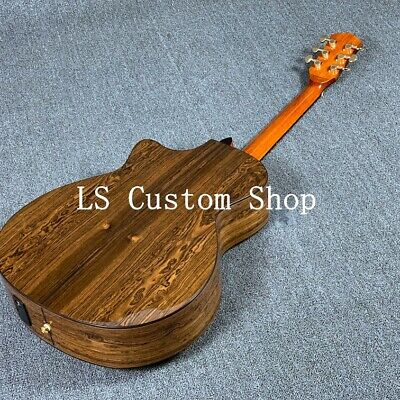 Handmade 40'' Cutway Top Quality Solid Top  Acoustic Guitar kingwood Maple Back&