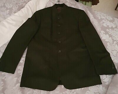 60's Style Black Beatle Lapel Collar Suit by Oliver Stead Chest 40