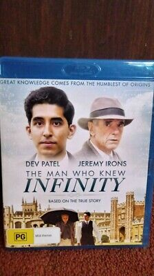 The Man Who Knew Infinity - Blu Ray Region B NEW AND UNSEALED  FREE POSTAGE