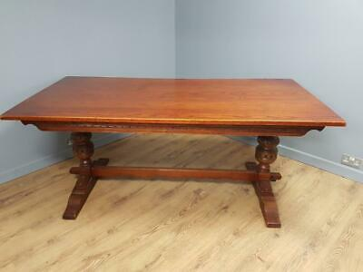 Large 6ft Solid Oak Wood Bros Old Charm Sovereign Refectory Dining Table