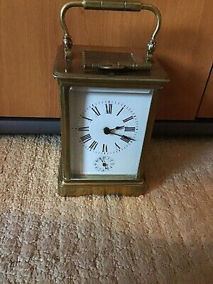 A Fine Impressive Antique Carriage Clock With Bell Alarm