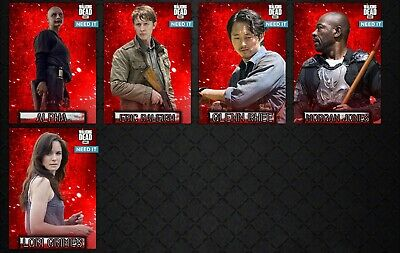 EMBERS Wave 1 MOTION 5 CARD SET Topps WALKING DEAD DIGITAL TRADER