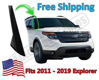 2011-19 Ford Explorer Windshield Outer Trim Pillar Molding Passenger Right Side