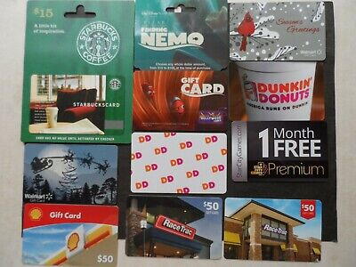 """Lot Of 10 Different """"Collectible Only"""" Gift Cards"""