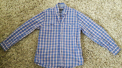 Mayoral Boys Shirt Aged 8 Years Blue Check Cotton Party In Vgc