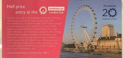Half Price London Eye Tickets! 50% off for upto 5 people!