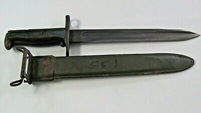 WW2 M-1 Garand Bayonet w/ M-3 Scabbard US marked UFH-Union Fork&Hoe Company 1942