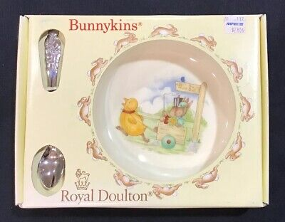 Vintage Royal Doulton Bunnykins Nursery Set To The Hunt Ball Made In England NEW