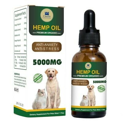 ChicPet UK HIGH STRENGTH 5000mg Organic Hemp Oil For Dogs Cats Rabbits Pets