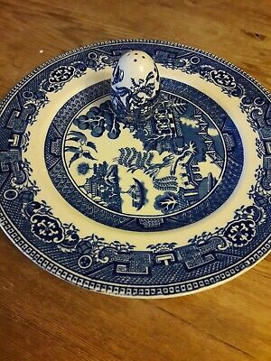 VINTAGE OLD WILLOW DINER PLATE by ALFRED MEAKIN and PEPPER POT