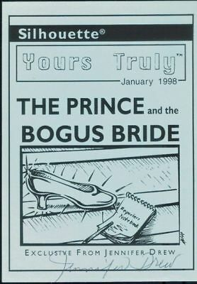 The Prince & the Bogus Bride postcard - signed by Jennifer Drew (author)
