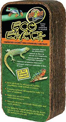 (2 Pack) Zoo Med Eco Earth Compressed Coconut Fiber Substrate 7-8 Liters 1 Brick