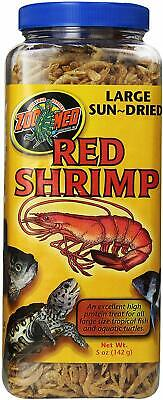 (4 Pack) Zoo Med Large Sun-Dried Red Shrimp | Tropical Fish Aquatic Turtles 5 oz