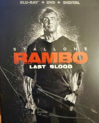 RAMBO:LAST BLOOD (BLU-RAY 2019 ONLY) Case+Artwork+Slipcovers INCLUDED
