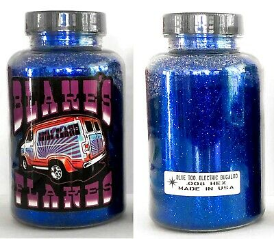 Blakes Metal Flake .008 Blue Too Electric Bugaloo (canadian) Dark Blue Lowrider