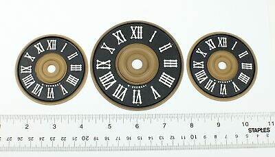 CUCKOO CLOCK DIALS - Lot of 3 PLASTIC VINTAGE NOS WEST GERMANY - GG539