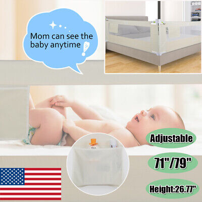 1.5/1.8/2 m Baby Guard Bed Rail Toddler Safety Adjustable Durable Kid Infant Bed