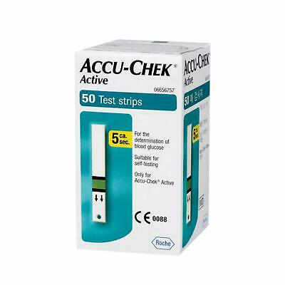 Accu-Chek Active Strips, Pack of 50 (Multicolor) FREE SHIPPING exp 04/2021