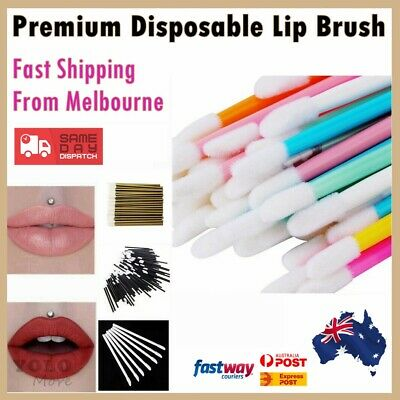 Professional Lip Gloss Brush Disposable Lip Wands Lipstick Removal 8 Colours AUS