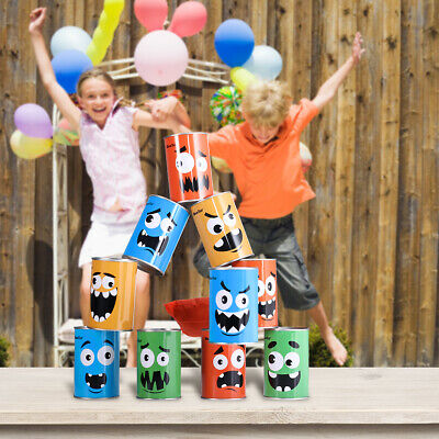 Birthday Picnic Party Circus 2 Sets  New Kids Carnival Can Bean Bag Toss Game
