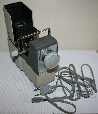 Vintage Cabin - 35mm Slide Film Projector & Cooler Base - Working