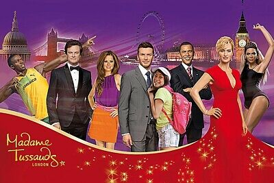 Madame Tussauds London x2 Tickets - Saturday 7th March 2020 at 9.45 am